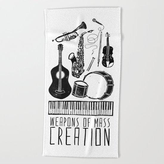 Weapons Of Mass Creation - Music Beach Towel