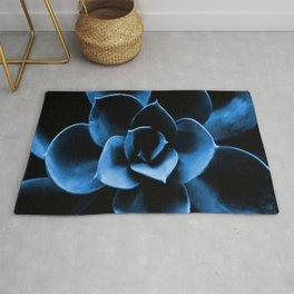 Dark Blue Succulent Plant #decor #society6 #buyart Rug