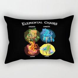 Elemental Chairs Chairs Fire Earth Rectangular Pillow