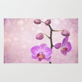 orchid tree (textured) Rug