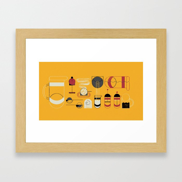 French Press Framed Art Print