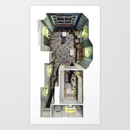 BLADE RUNNER 2049's K's flat in watercolor Art Print