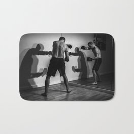 Shadow Boxing Bath Mat