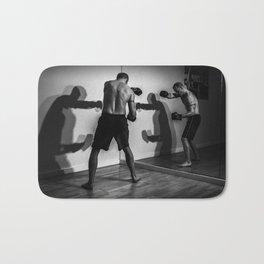 Shadow Boxing Bath Mat