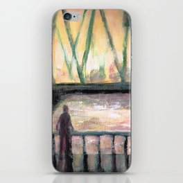 Contemplation Over the Water iPhone Skin