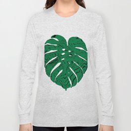 Monstera cheese plant house plants yoga studio minimalist art hipster decor Long Sleeve T-shirt