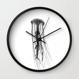 Jellyfish Silhouette Wall Clock