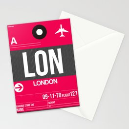LON London Luggage Tag 2 Stationery Cards