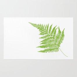 Lady Fern Illustration Botanical Print Rug