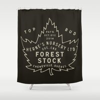 nursery Shower Curtains featuring Herne's Nursery LTD by The Provincial Trading Co.