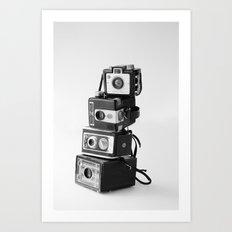 Camera Stack Art Print