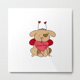 Valentine Puppy Love Bug Metal Print