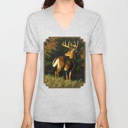 Whitetail Deer Trophy Buck Unisex V-Neck