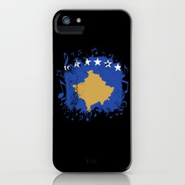 Kosovo Flag Music iPhone Case