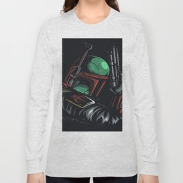 Boba Fett - BEST HUNTER FOR GALAXY HEADS Long Sleeve T-shirt