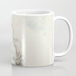 George Stubbs - Vrouw in gestreepte japon met lege beurs in haar hand Coffee Mug