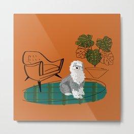 Mod Dog: Sheepdog Metal Print