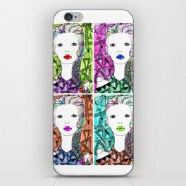 Rainbow Riot Girlz. Quadrupletz.  iPhone Skin