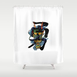 Brave Dragon Shower Curtain