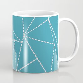 Ab Dotted Lines Pink on Blue Coffee Mug