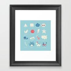 Geometry Cheat Sheet Framed Art Print