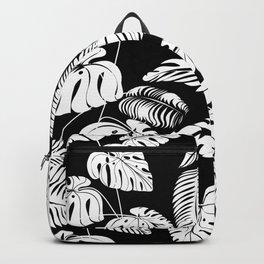 Tropical leaves pattern Backpack