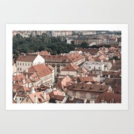 Prague Rooftop 06 Art Print