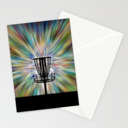 Disc Golf Basket Silhouette Stationery Cards