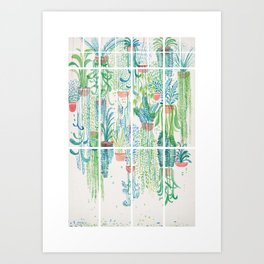 Winter in Glasshouses II Art Print