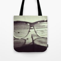sunglasses Tote Bags featuring sunglasses by Nikole Lynn Photography