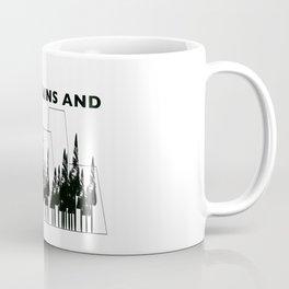 High Mountains and Trees Coffee Mug