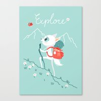 explore Canvas Prints featuring Explore by Freeminds