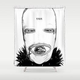 asc 424 - Le masque de la Toussaint (Trick or treat!) Shower Curtain