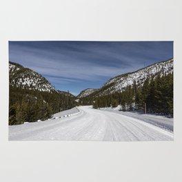 Carol Highsmith - Snow Covered Road Rug