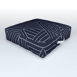 Mudcloth Indigo Outdoor Floor Cushion