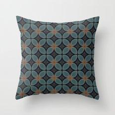 Metallic Deco Blue Throw Pillow