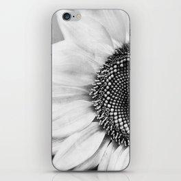 B&W Sunflower iPhone Skin