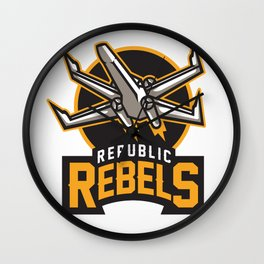 Republic Rebels Wall Clock