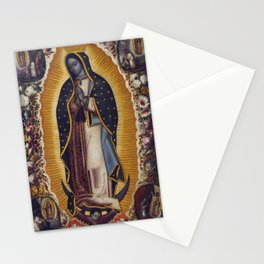 "Manuel de Arellano, Antonio de Arellano ""Virgin of Guadalupe (La Virgen de Guadalupe)""(1691) Stationery Cards"