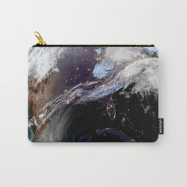 Satellite Map of USA Carry-All Pouch