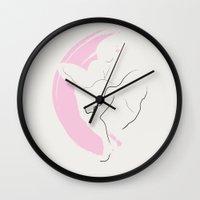 marylin monroe Wall Clocks featuring Monroe by Digital Sketch