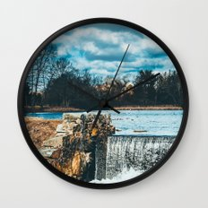 Waterfall afternoon Wall Clock