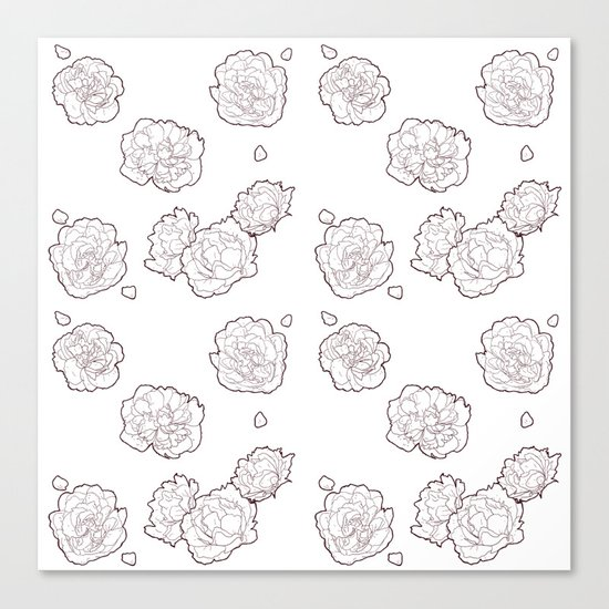 Pions pattern 2 Canvas Print
