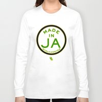 jamaica Long Sleeve T-shirts featuring Made in Gyalchester-Jamaica by DCMBR - December Creative Group