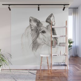 Remembering Maggie :: A Tribute to a Collie Wall Mural