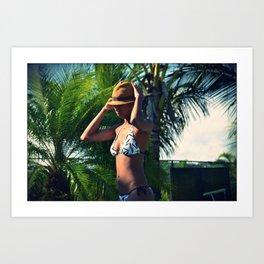 PANAMA GIRL Art Print
