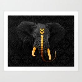 Elephant King Art Print