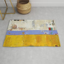 Amenity Abstract Landscape Yellow Modern Shawn McNulty Rug
