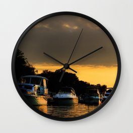 Boats on Lake Constance (Bodensee) Wall Clock