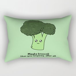 Maybe broccoli likes you anyway, after all Rectangular Pillow